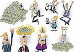 cartoon illustration of happy successful businessmen set Stock Photo - Royalty-Free, Artist: izakowski                     , Code: 400-06093571