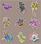 halloween monster stickers Stock Photo - Royalty-Free, Artist: notkoo2008                    , Code: 400-06093738