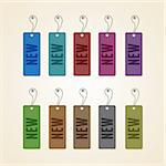 Set of colorful new tags. This vector image is fully editable. Stock Photo - Royalty-Free, Artist: siminitzki                    , Code: 400-06094318