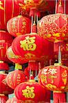 Hanging red lanterns with Chinese traditional patterns and script in Chinese New year(Spring Festival) Stock Photo - Royalty-Free, Artist: rodho                         , Code: 400-06094892