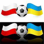 Europe on football Twenty-Twelve Ukraine and Poland. Illustration on white and black. Stock Photo - Royalty-Free, Artist: dvarg                         , Code: 400-06094978