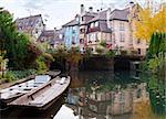 Old houses and the river in the town of Colmar Stock Photo - Royalty-Free, Artist: nazzu                         , Code: 400-06095693