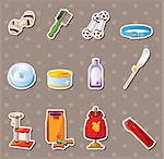 pet tool stickers Stock Photo - Royalty-Free, Artist: notkoo2008                    , Code: 400-06095739