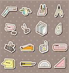 doodle stationery stickers  Stock Photo - Royalty-Free, Artist: notkoo2008                    , Code: 400-06096084