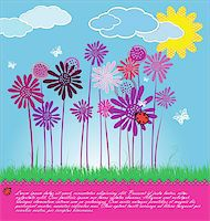 flores - Cute spring background Stock Photo - Royalty-Freenull, Code: 400-06096654