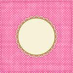 Pink Polka Dot Invitation Card with Place for Text. Vector Stock Photo - Royalty-Free, Artist: nikifiva                      , Code: 400-06096935