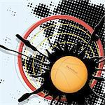 abstract illustration, basketball ball on dark background  EPS 10 with transparency Stock Photo - Royalty-Free, Artist: Brux                          , Code: 400-06097795