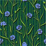 seamless cornflower green blue pattern background vector Stock Photo - Royalty-Free, Artist: 100ker                        , Code: 400-06098609