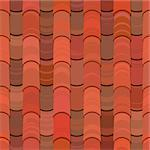red clay ceramic roof tiles seamless texture Stock Photo - Royalty-Free, Artist: 100ker                        , Code: 400-06098613