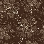 seamless pattern with flowers on a brown background Stock Photo - Royalty-Free, Artist: odina222                      , Code: 400-06098955
