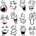 Cartoon faces and emotions for humor or comics design Stock Photo - Royalty-Free, Artist: izakowski                     , Code: 400-06099223