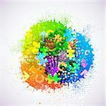 Vector creative abstract background. Eps10. Colorful illustration Stock Photo - Royalty-Free, Artist: Trezvuy                       , Code: 400-06099231