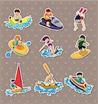 water sport stickers Stock Photo - Royalty-Free, Artist: notkoo2008                    , Code: 400-06099776
