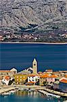 Idyllic adriatic town of Vinjerac and Paklenica national park, Dalmatia, Croatia Stock Photo - Royalty-Free, Artist: xbrchx                        , Code: 400-06099879
