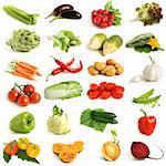 Vegetable collection on a white background Stock Photo - Royalty-Free, Artist: popovaphoto                   , Code: 400-06100157