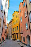 Stockholm. Beautiful   narrow street of the Old town Stock Photo - Royalty-Free, Artist: TatyanaSavvateeva             , Code: 400-06100332