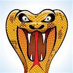highly detailed and terrifying cobra head Stock Photo - Royalty-Free, Artist: CarpathianPrince              , Code: 400-06100974