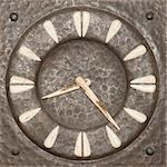 Old tower clock display - from Troyan Region in Bulgarian Stock Photo - Royalty-Free, Artist: lindom                        , Code: 400-06101904