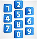 Ten blue 3d banners with numbers. Vector illustration Stock Photo - Royalty-Free, Artist: sky_max                       , Code: 400-06101989
