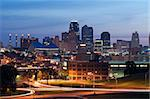 Image of the Kansas City skyline at sunrise. Stock Photo - Royalty-Free, Artist: rudi1976                      , Code: 400-06102404