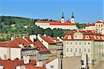 Prague. Very beautiful place in the Lesser Town with Strahov Monastery in the background Stock Photo - Royalty-Free, Artist: TatyanaSavvateeva             , Code: 400-06102429