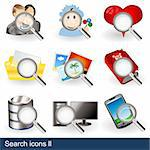 Vector collection of search icons - part 2 Stock Photo - Royalty-Free, Artist: Stiven                        , Code: 400-06102655