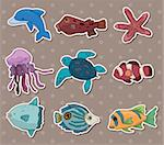 fish stickers Stock Photo - Royalty-Free, Artist: notkoo2008                    , Code: 400-06103119