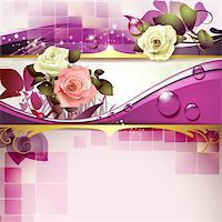 Springtime background with roses Stock Photo - Royalty-Freenull, Code: 400-06103270