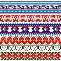 Vector image of ancient american pattern on white Stock Photo - Royalty-Freenull, Code: 400-06103456