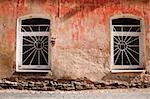 Aged weathered street wall with some windows Stock Photo - Royalty-Free, Artist: Taigi                         , Code: 400-06104623