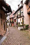 Street Gothic town in France, Eguisheim, Alsace Stock Photo - Royalty-Free, Artist: nazzu                         , Code: 400-06104667