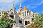 Budapest. View of Fisherman's Bastion and the church of St. Matthias from the east Stock Photo - Royalty-Free, Artist: TatyanaSavvateeva             , Code: 400-06105302