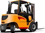 Lift truck. Forklift. Vector illustration Stock Photo - Royalty-Free, Artist: leonido                       , Code: 400-06105355
