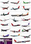 Big set of  Airliners. Vector illustration Stock Photo - Royalty-Free, Artist: leonido                       , Code: 400-06105389
