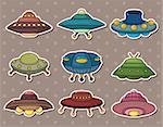 ufo stickers Stock Photo - Royalty-Free, Artist: notkoo2008                    , Code: 400-06105470