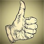 Thumb up like hand symbol. Vector icon. Stock Photo - Royalty-Free, Artist: Sylverarts                    , Code: 400-06105948