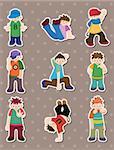 hip hop boy stickers