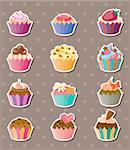 cup-cake stickers Stock Photo - Royalty-Free, Artist: notkoo2008                    , Code: 400-06107776