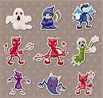 ghost and devil stickers Stock Photo - Royalty-Free, Artist: notkoo2008                    , Code: 400-06108138