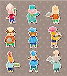 animal chef stickers Stock Photo - Royalty-Free, Artist: notkoo2008                    , Code: 400-06108142