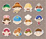 people job face stickers Stock Photo - Royalty-Free, Artist: notkoo2008                    , Code: 400-06108365