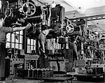 1940s 1950s MEN WORKING ON MILLING MACHINES INDOOR Stock Photo - Premium Rights-Managed, Artist: ClassicStock, Code: 846-06111905