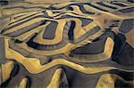 CONTOUR FARMING AERIAL VIEW OF  A PALOUSE WHEAT FARM EASTERN WASHINGTON
