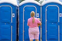 WOMAN AND CHILD AT PORTABLE LAVATORIES Stock Photo - Premium Rights-Managednull, Code: 846-06112026