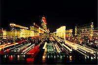 1980 1980s RETRO NEW YORK CITY NEW YORK CITY AT NIGHT BLURRED Stock Photo - Premium Rights-Managednull, Code: 846-06112102
