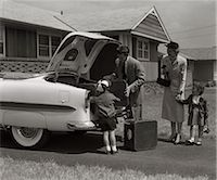 1950s FAMILY PACKING TRUNK OF 1953 CHEVROLET WITH SUITCASES Stock Photo - Premium Rights-Managednull, Code: 846-06112168