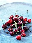 Close up of plate of cherries Stock Photo - Premium Royalty-Free, Artist: Photocuisine, Code: 649-06113115