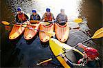 Teacher talking to students in kayaks Stock Photo - Premium Royalty-Free, Artist: CulturaRM, Code: 649-06113544