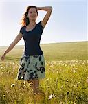 Woman walking in tall grass Stock Photo - Premium Royalty-Free, Artist: Cultura RM, Code: 649-06113751
