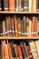 Old books in library Stock Photo - Premium Royalty-Freenull, Code: 6106-06114089
